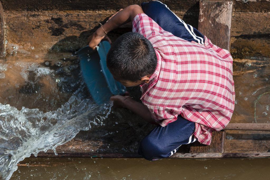 Petits pêcheur des 4000 îles, Mékong, Laos