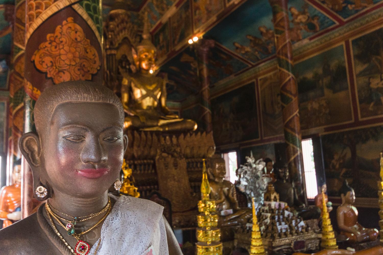 Bouddhas à la Pagode d'Argent, Phnom, Penh, Cambodge