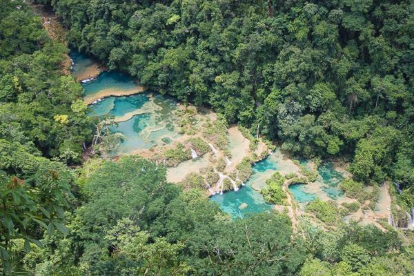 Bassins en cascades de Semuc Champey, Guatemala