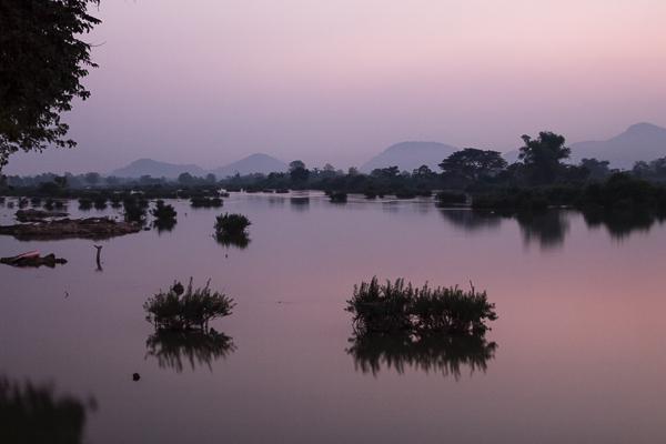 Coucher de soleil aux 4000 îles, Mékong, Laos