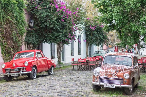 Vielles voitures à Colonia del Sacramento, Uruguay