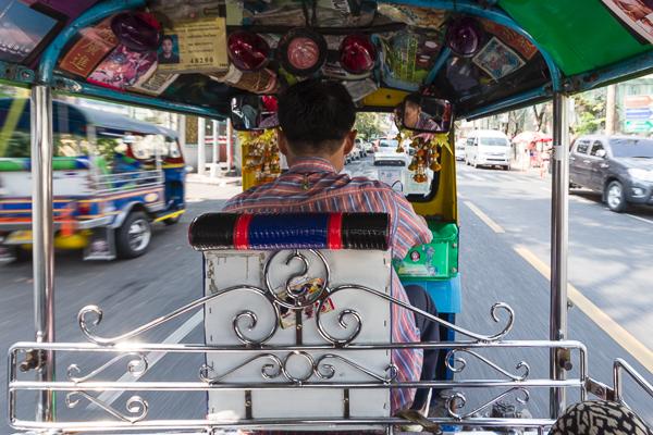 En tuk-tuk dans Bangkok, Thaïalnde