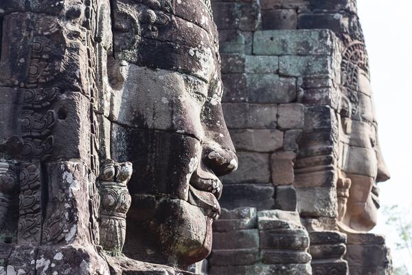 Têtes du temple Bayon à Angkor, Cambodge