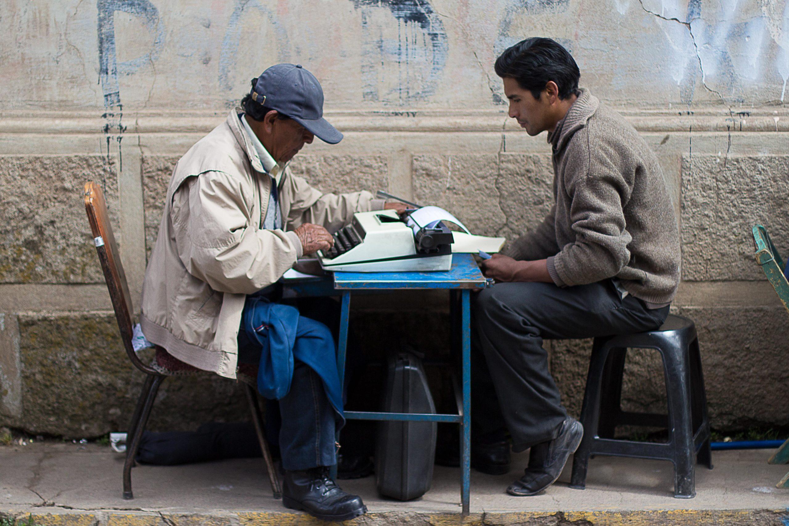 Ecrivain public, Puno, Pérou