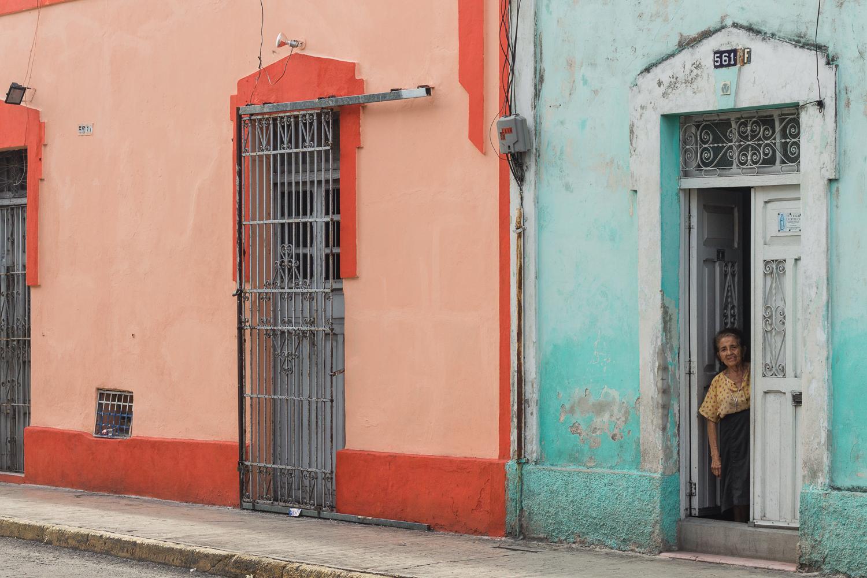 Immeubles colorés de Merida, Yucatan, Mexique