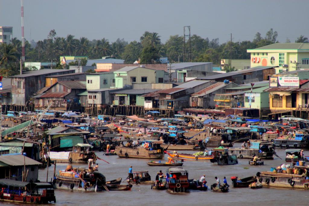 Marché flottant de Can Tho, Vietnam