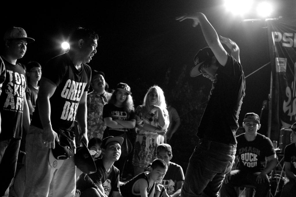 Battle de hip hop - haka à Bangkok, Thaïlande