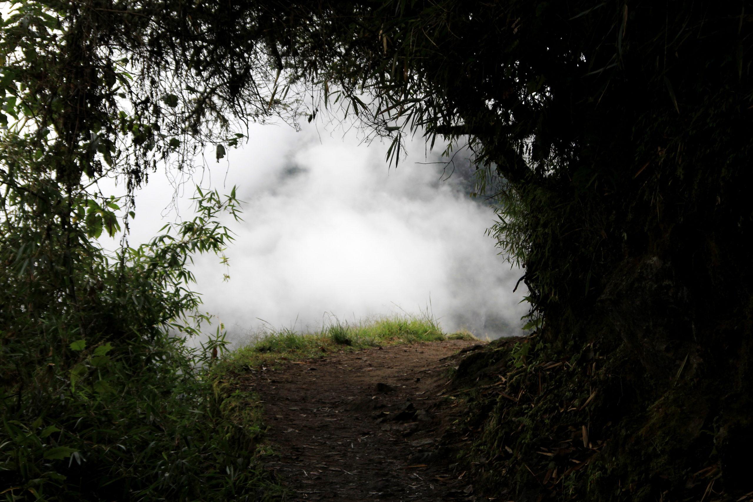 Dernier virage avantle Macchu Pichu, Pérou