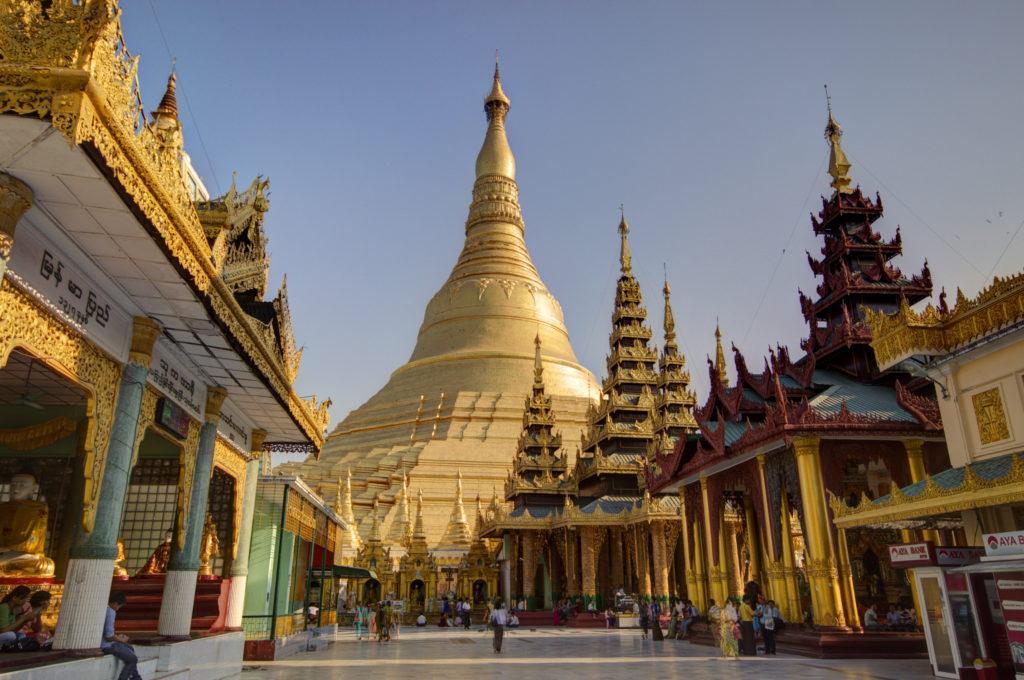 Pagode Schwedagon à Yangon, Birmanie