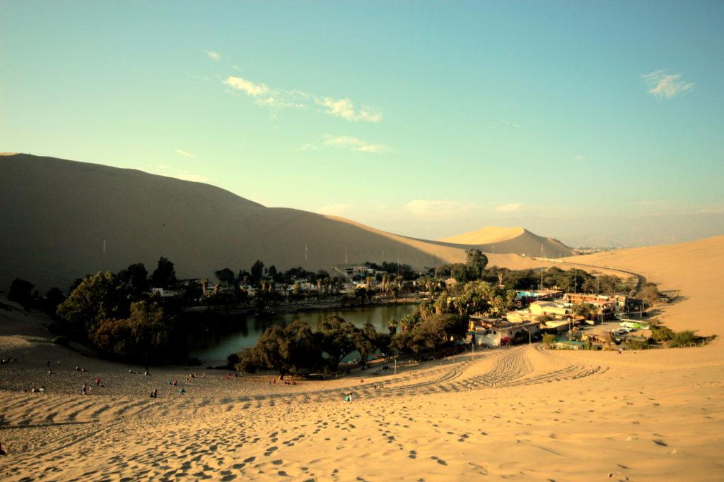 Oasis de Huacachina, désert d'Atacama, Pérou