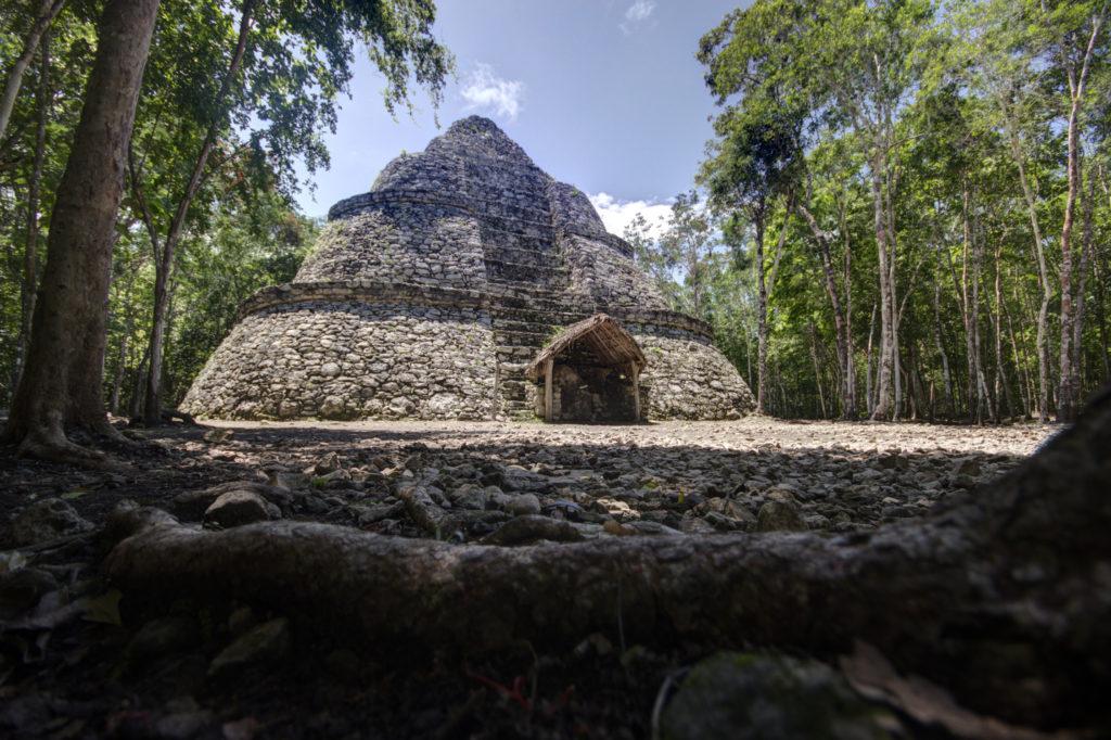 Pyramide maya de Coba, Yucatan, Mexique