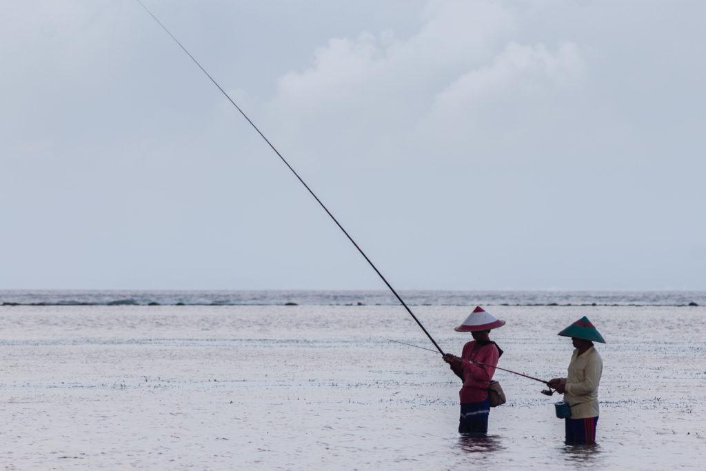 Pêcheurs traditionnels à Sanur, Bali