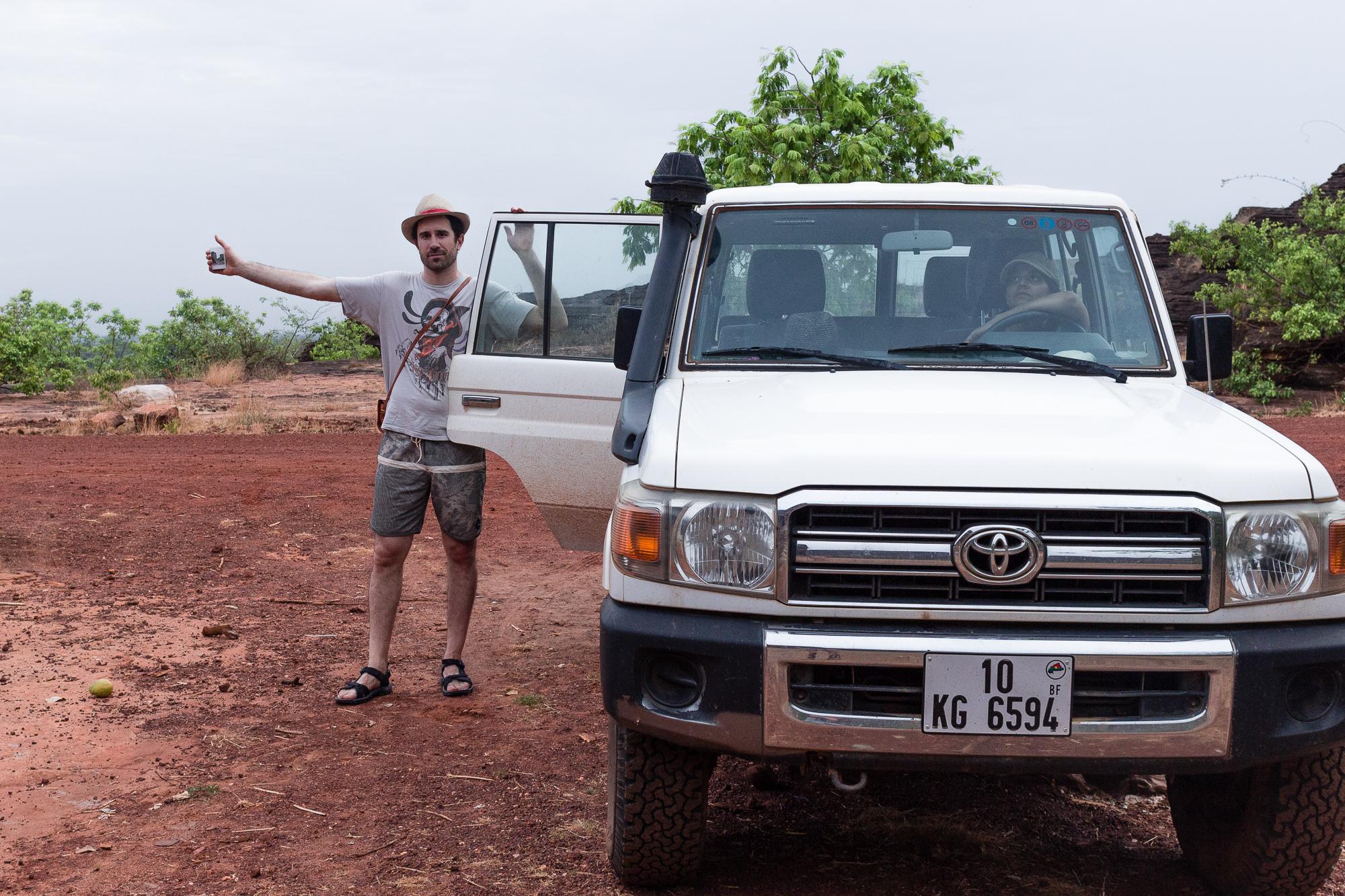 Stop sur le Landcruiser, région de Banfora, Burkina Faso