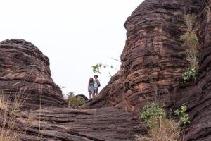 Perchés sur les dômes de Fabédougou, région de Banfora, Burkina Faso