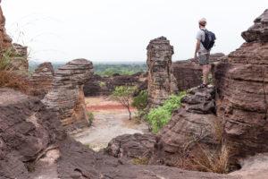 Sur les dômes de Fabédougou, région de Banfora, Burkina Faso