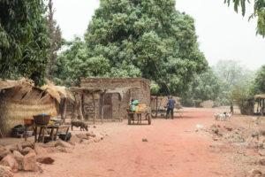 Village sur la route de la mare de Bala, Burkina Faso