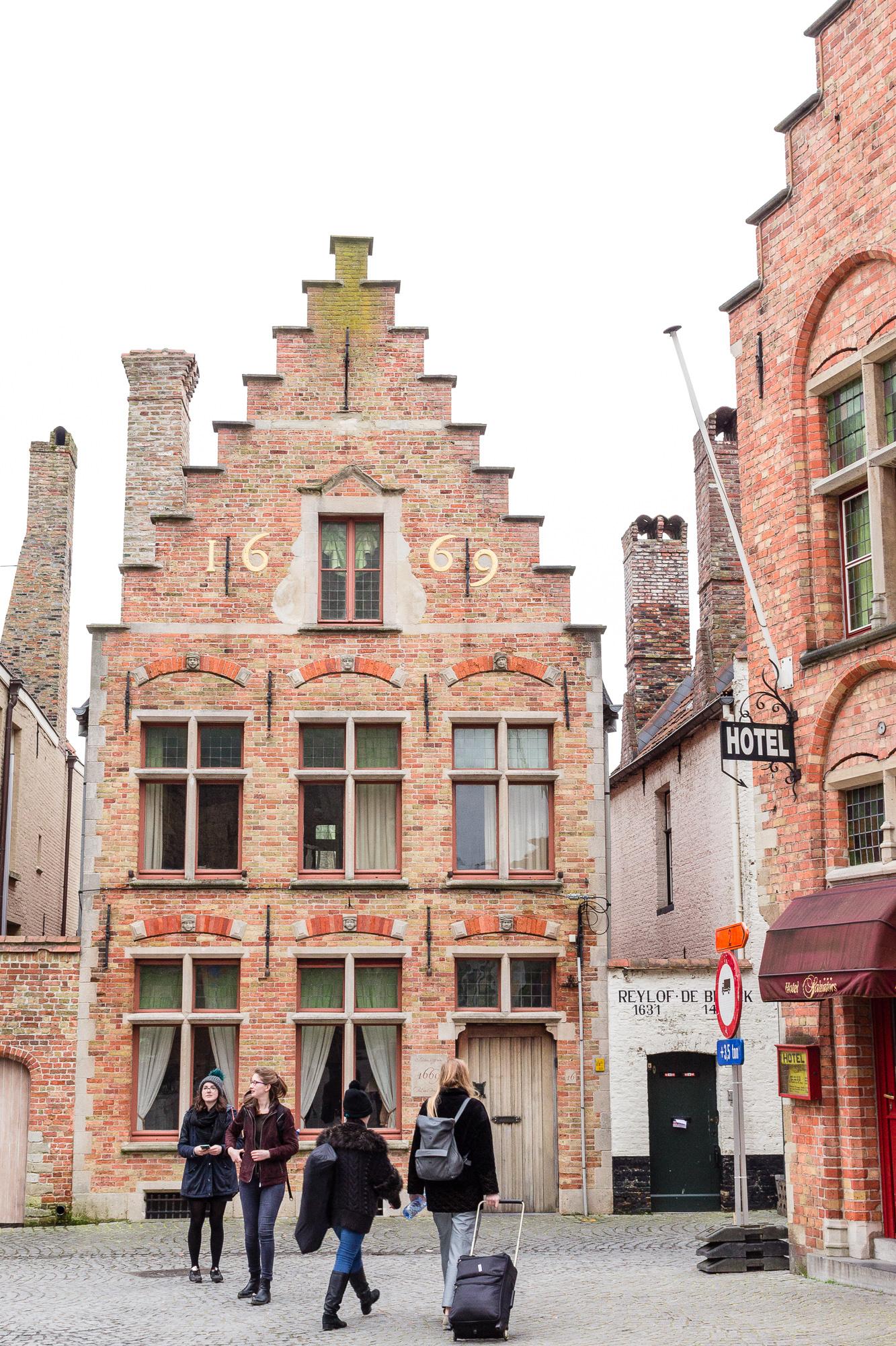 Pignon à gradins ou redents de Bruges, Belgique