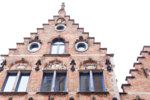 Pignon à gradins ou redents d'une maison de Bruges, Belgique