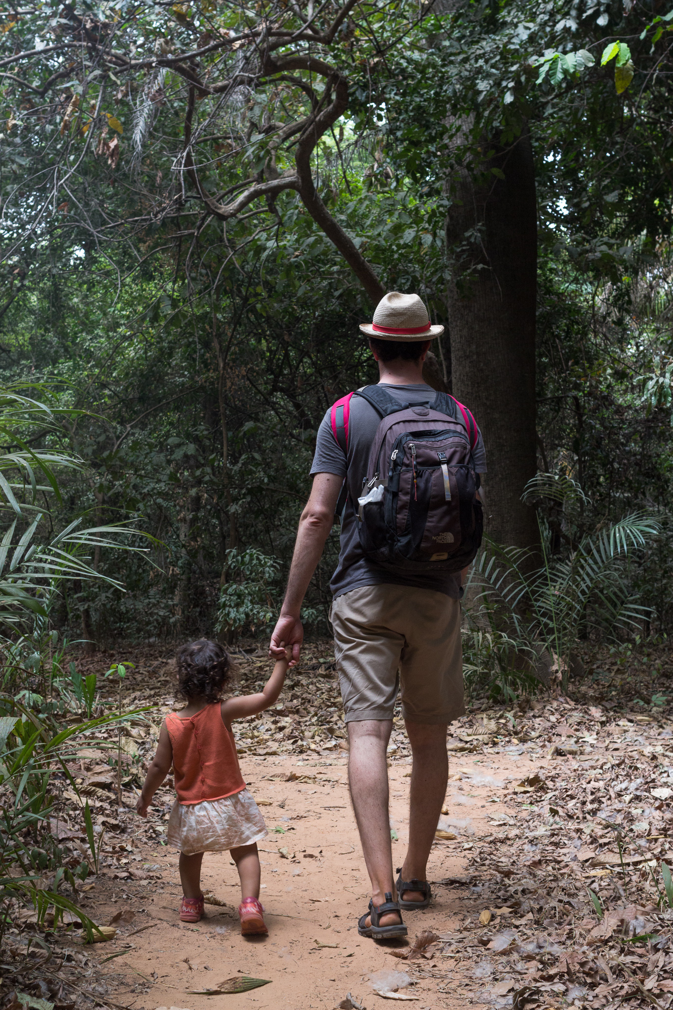 Les deux explorateurs de la forêt primaire de Kou, Burkina Faso