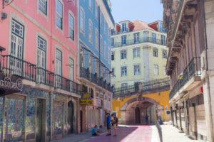 Rue Rose, Lisbonne, Portugal