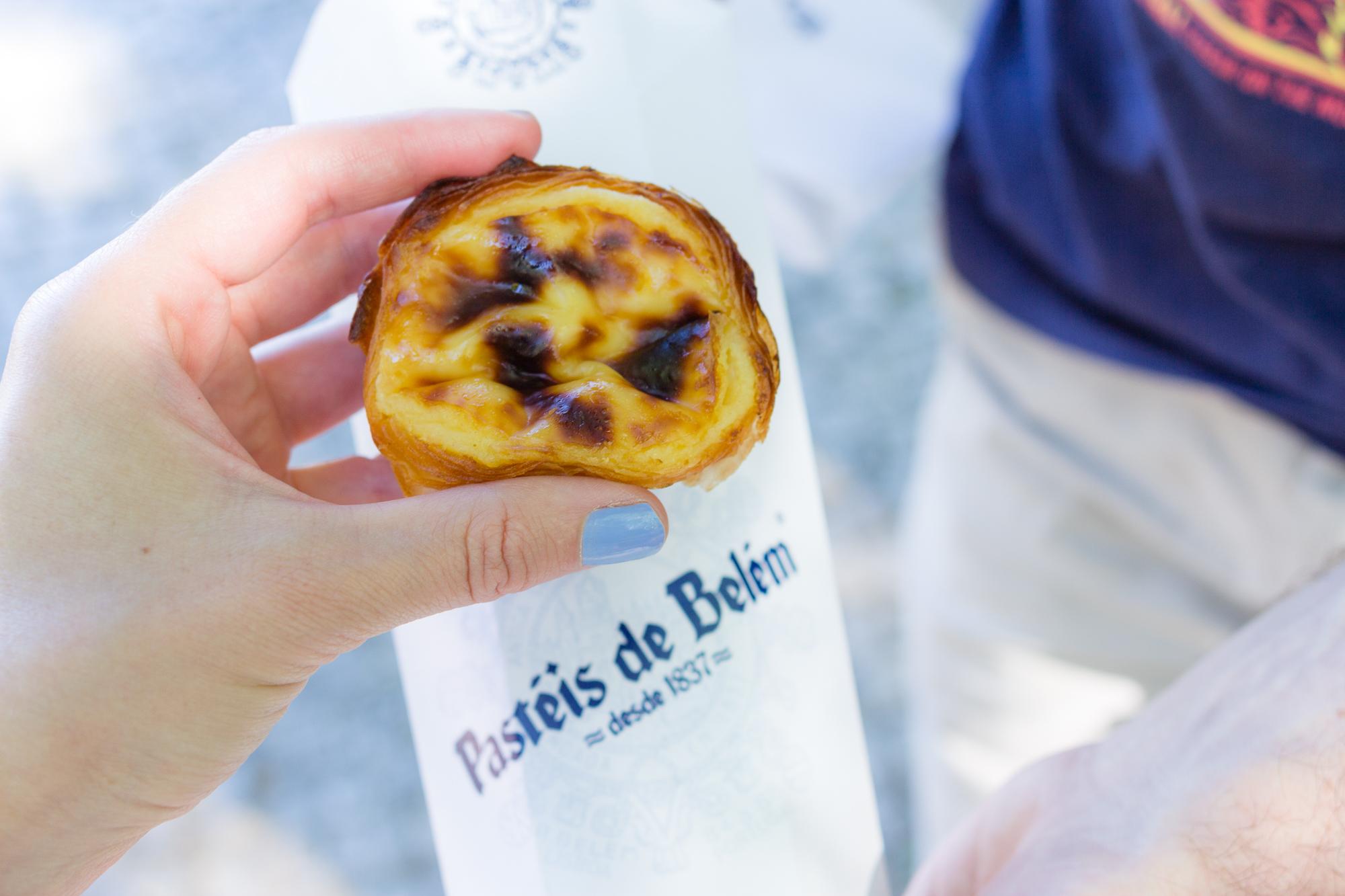 Pasteis de Belém avec son emballage, Lisbonne, Portugal