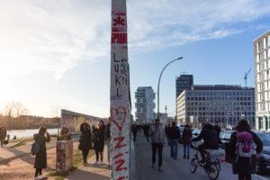 Epaisseur du mur de Berlin à l'East Side Gallerie