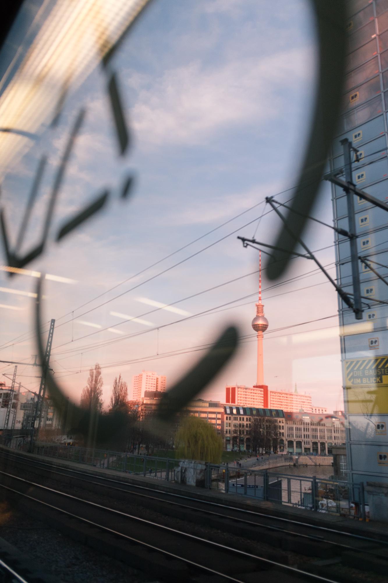 Aperçu de la tour de la télévision de Berlin