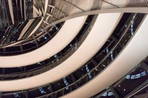 Rampe en spirale de la coupole du Reichstag