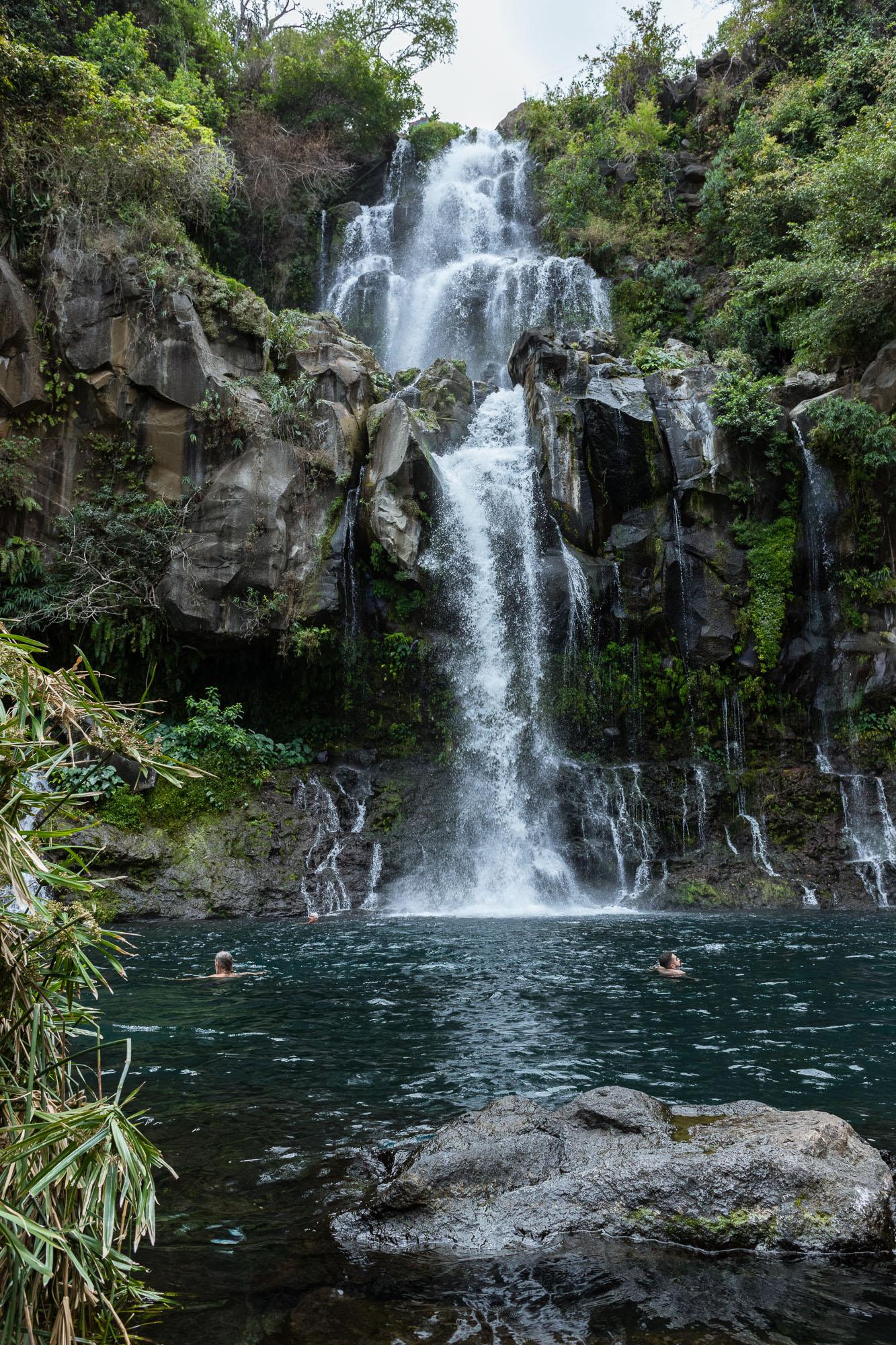Bassin et cascade des Aigrettes, 3 bassins, la Réunion