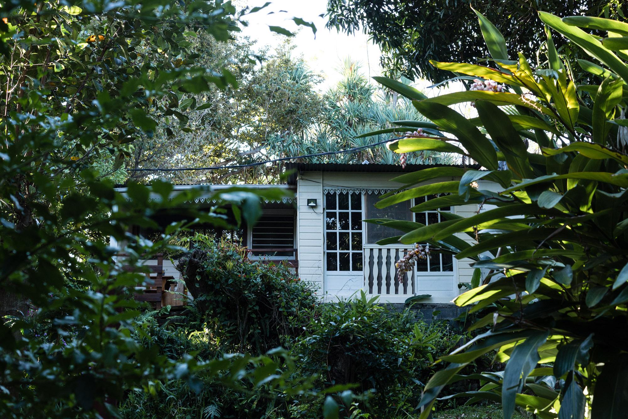 Maison dans la végétation du Vieux Domaine.