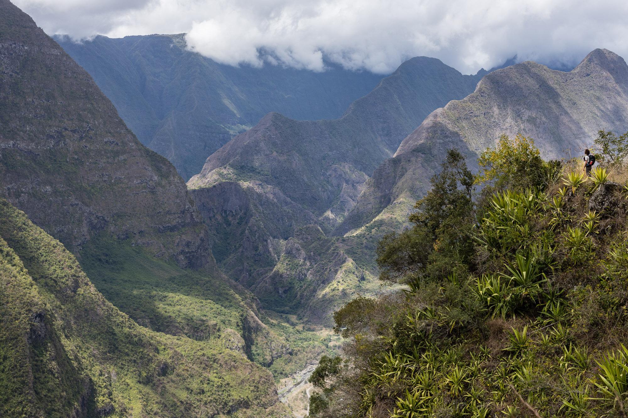 Point de vue sur entrée dans le cirque de Mafate, La Réunion
