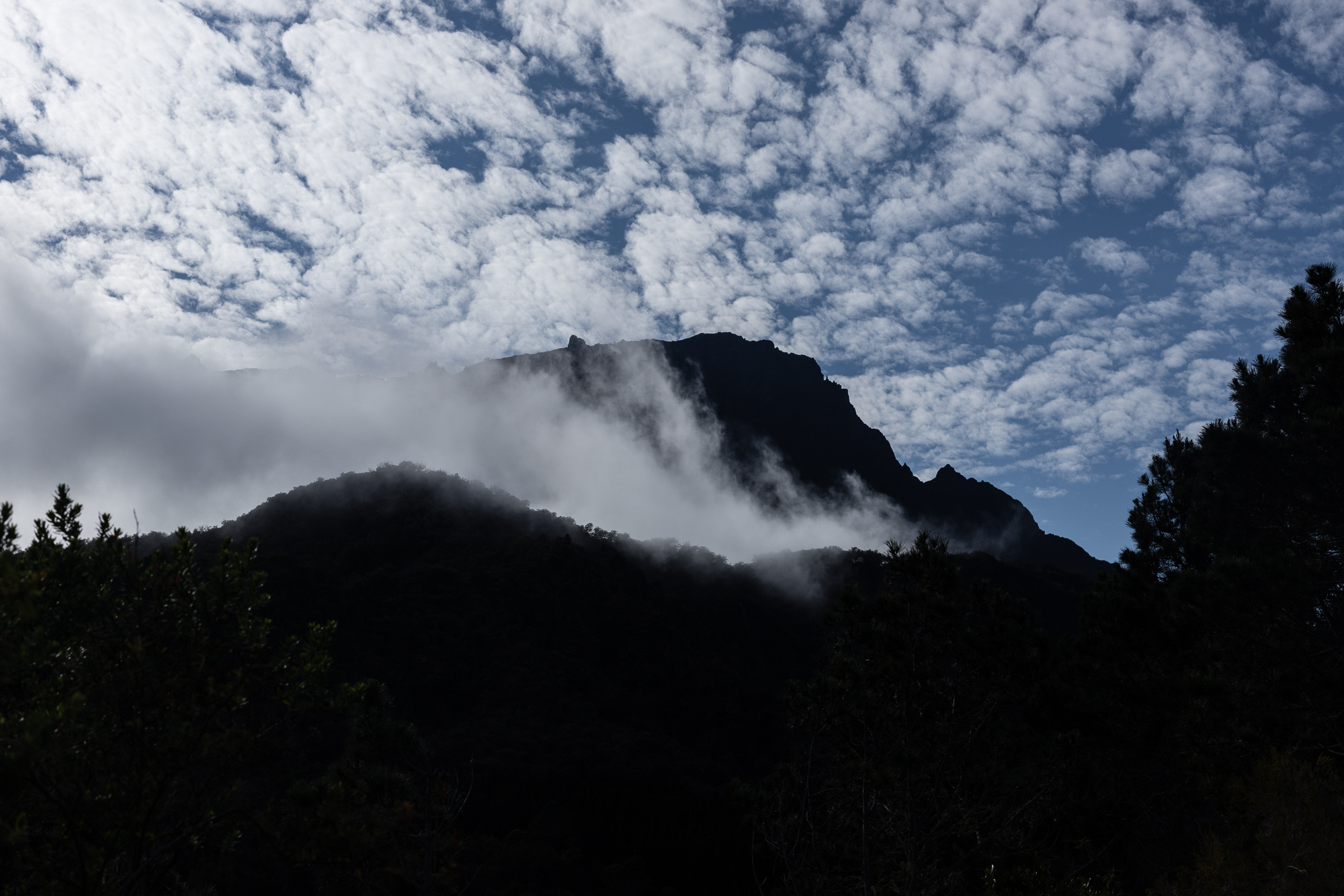 silhouette montagne