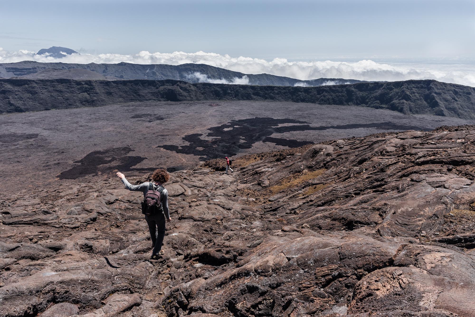 descente du cratère bory piton de la fournaise