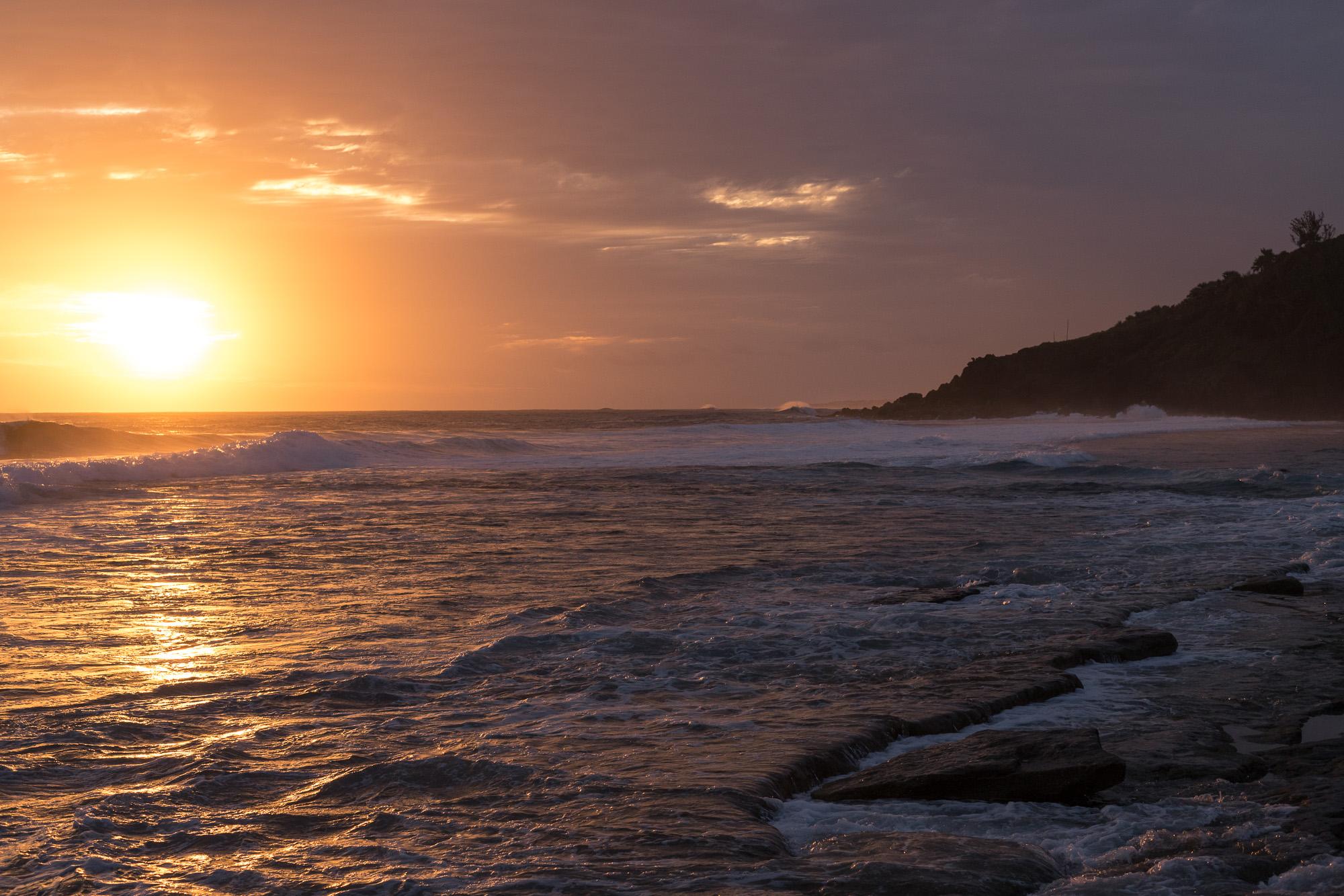 coucher de soleil plage grande anse