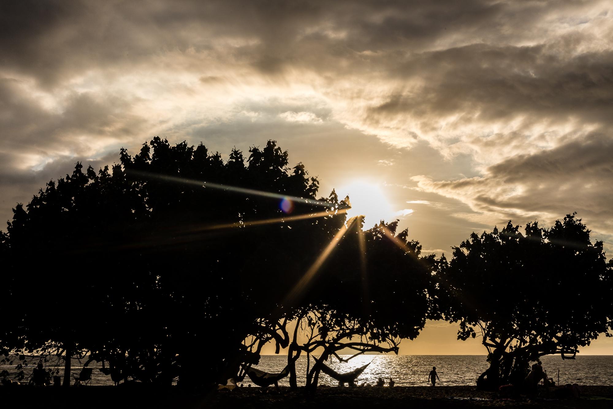 coucher de soleil Etang Salé