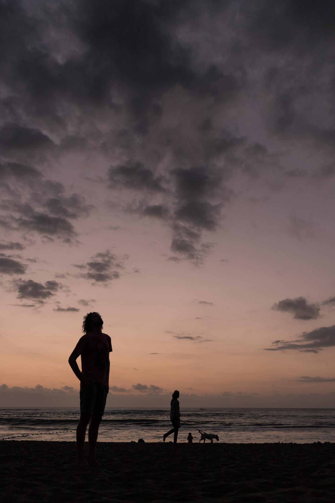 silhouette coucher de soleil bétang salé