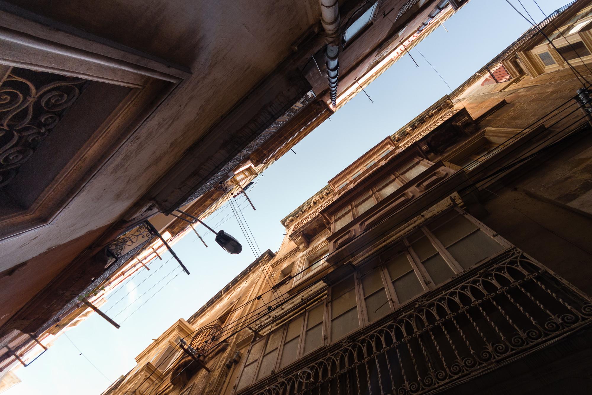 rues étroites 3 cités Malte