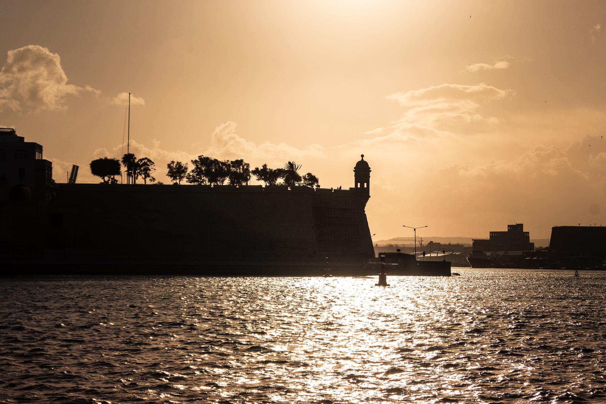 coucher de soleil 3 cités malte