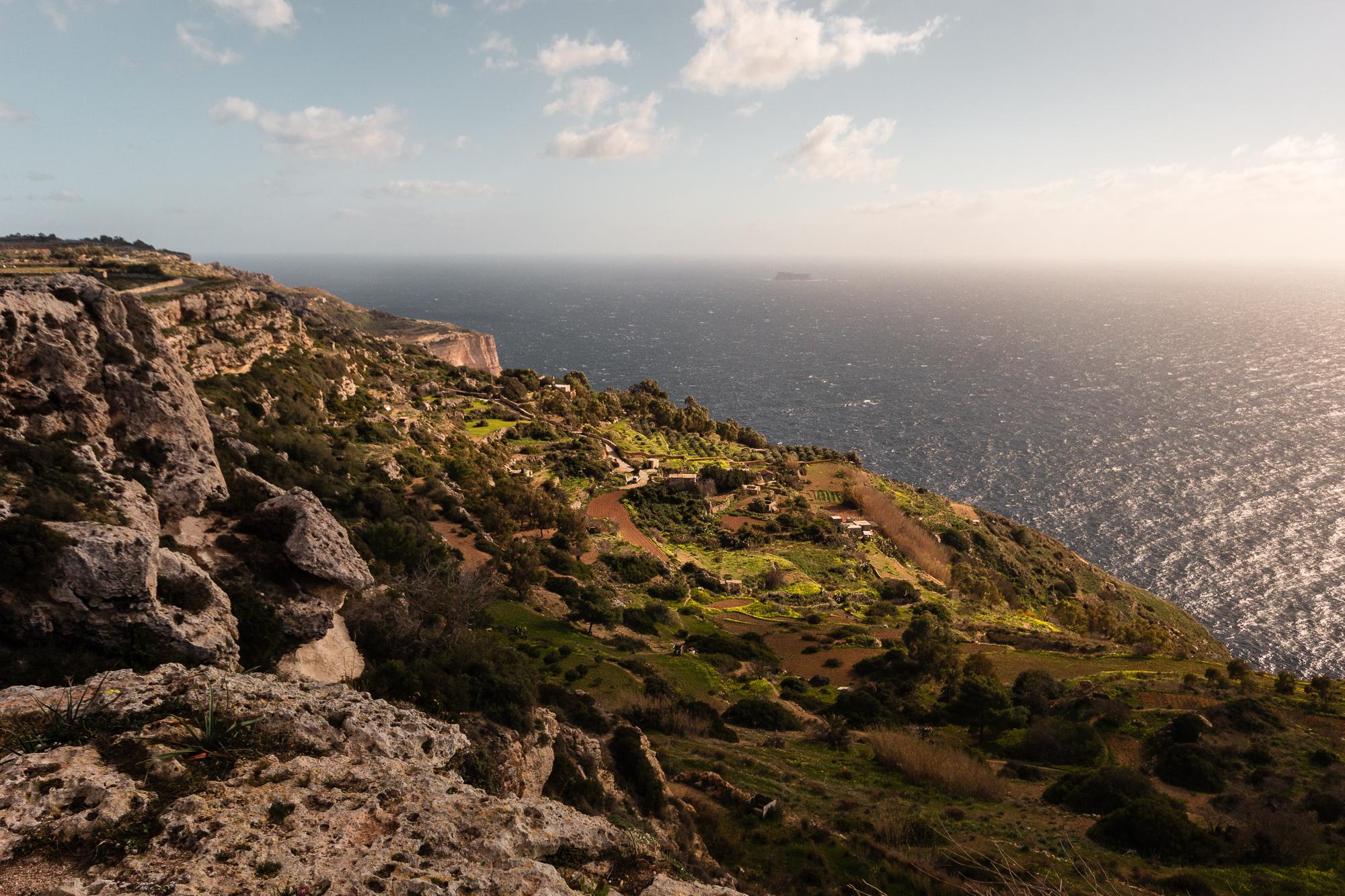 falaises de Dingli à Malte