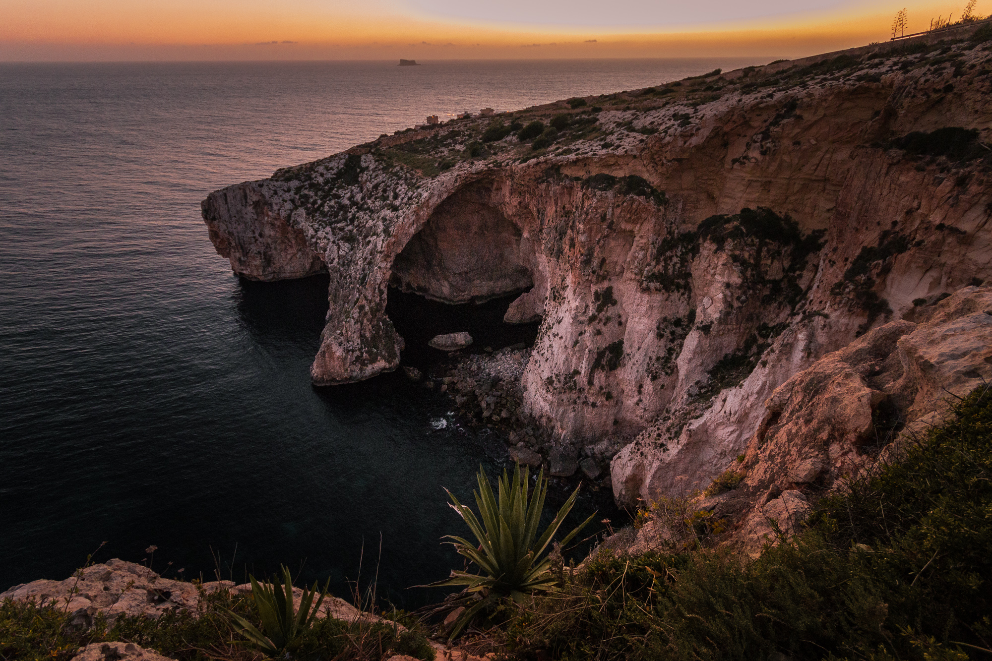 falaises dingli coucher de soleil