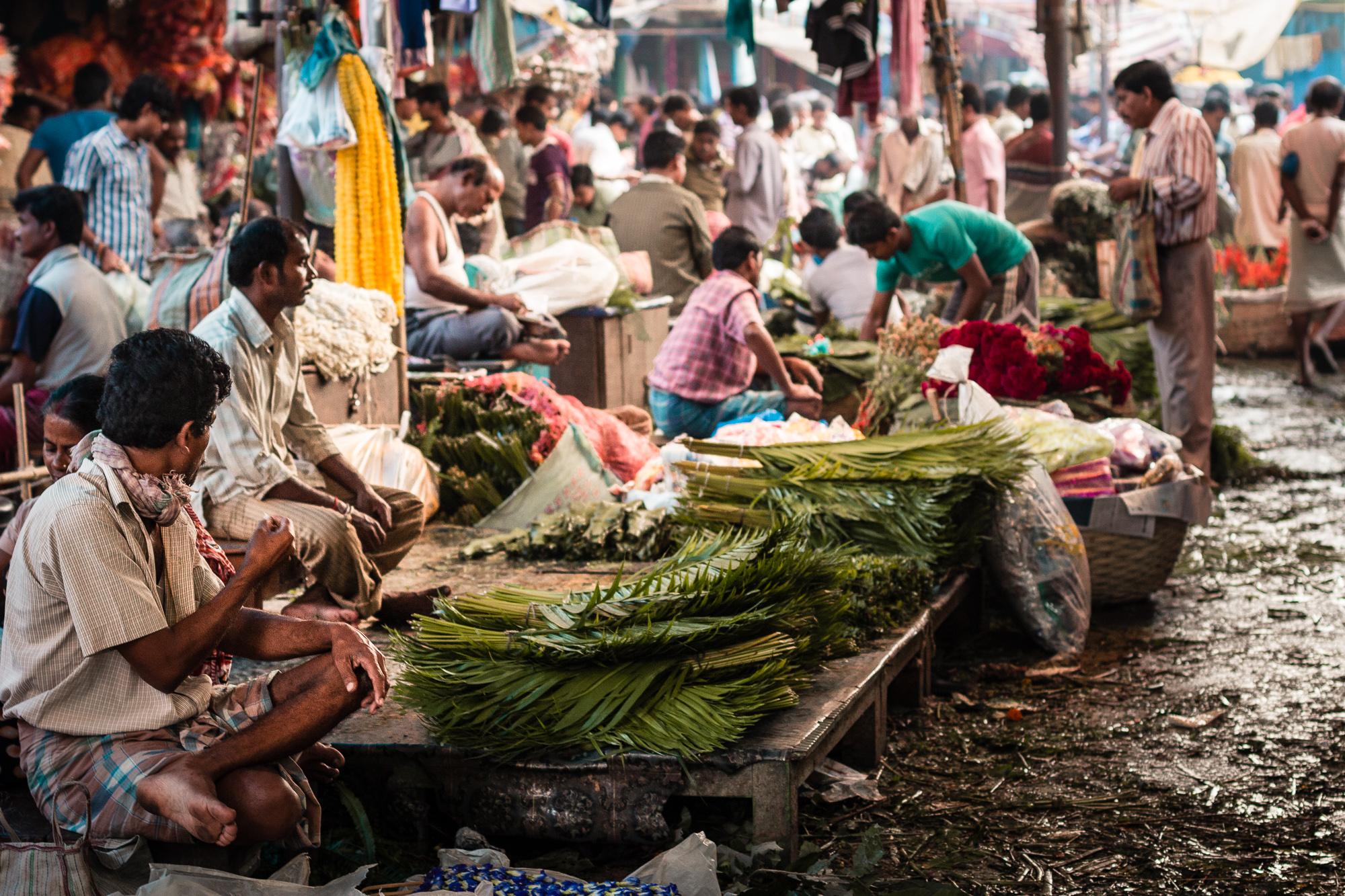 Mullick Ghat marché aux fleurs