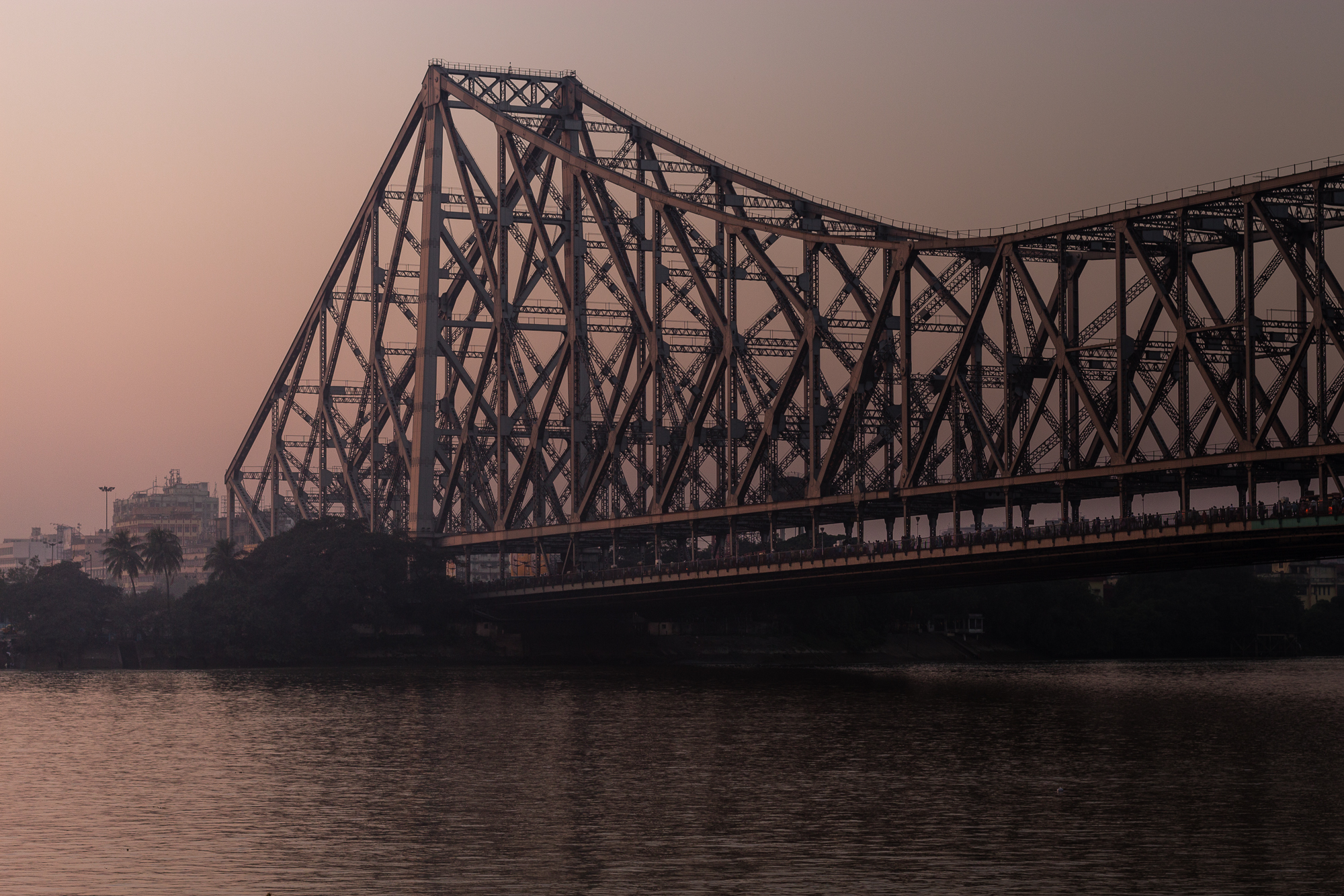 coucher de soleil pont Howrah