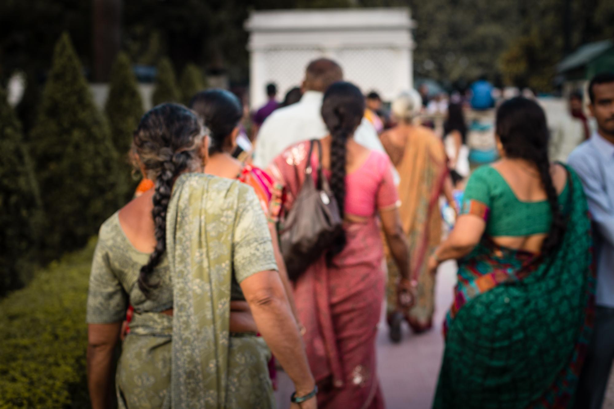 indiennes en saris victoria memorial
