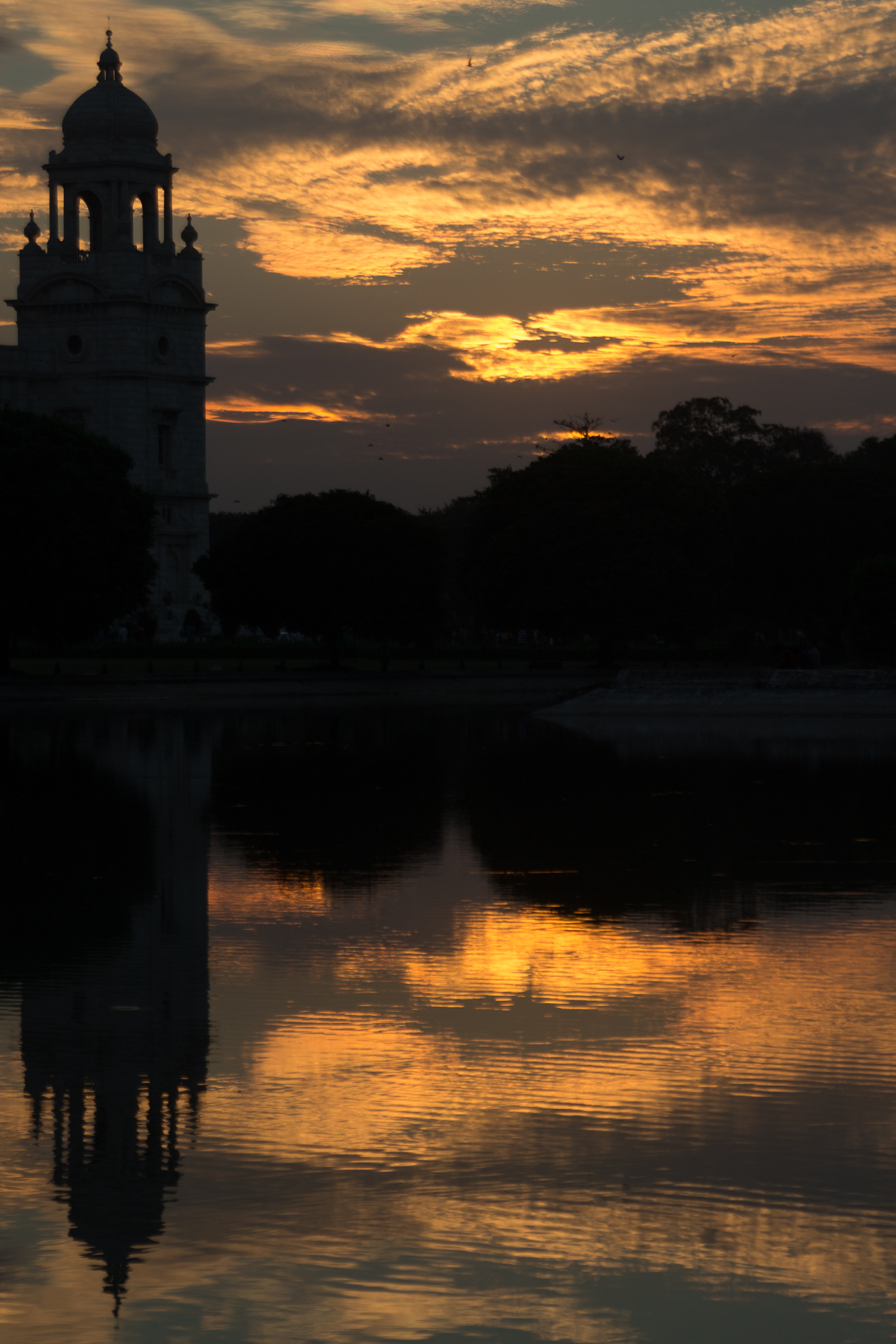 victoria memorial coucher de soleil